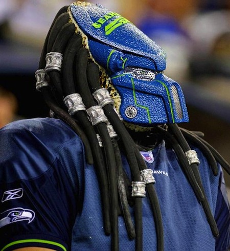 10 seahawks fan predator mask creepy nfl fans