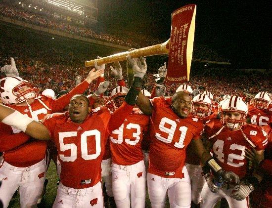 11 Paul Bunyan Axe (Wisconsin Badgers vs. Minnesota Golden Gophers) weird college football trophies