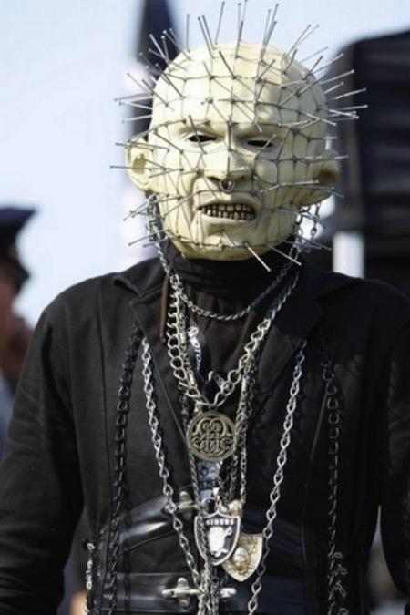 17 raiders head pinhead mask creepy nfl fans
