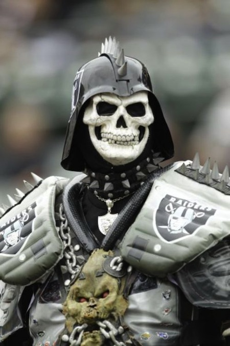 18 darth skeletor raiders fan creepy nfl fans