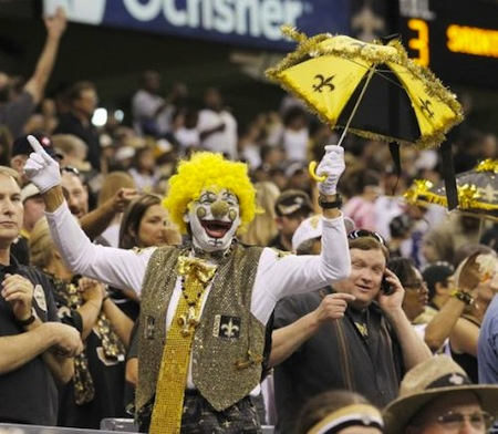 19 new orleans saints clown fan creepy nfl fans