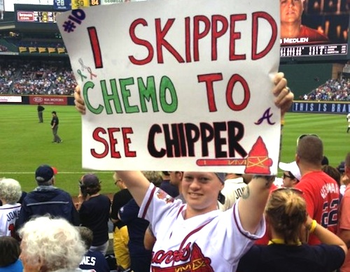 2 chipper jones retirement gift i skipped chemo