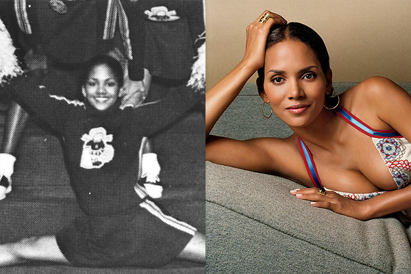 2 halle berry celebrities cheerleaders cheerleading