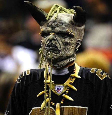2 new orleans saints fan demon creepy nfl fans