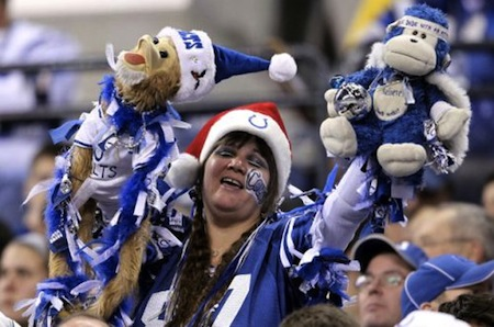 20 crazy indianapolis colts fan puppets santa hat creepy nfl fans