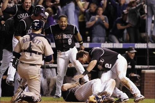 2007 rockies padres playoff game walk-off win