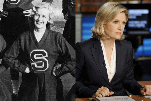 22 diane sawyer celebrities cheerleader cheerleading