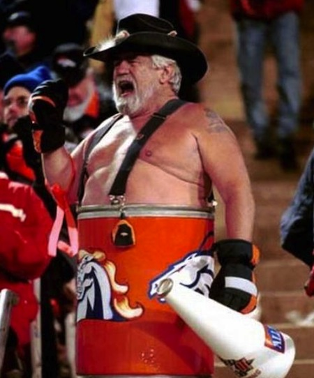 23 denver broncos fan barrel guy creepy nfl fans