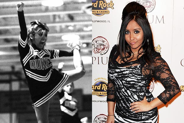 23 snooki celebrities cheerleaders