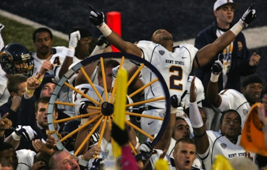 23 wagon wheel trophy (akron zips vs. kent state golden flashes)