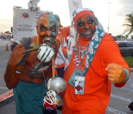 24 miami dolphins fans insane clown posse creepy nfl fans