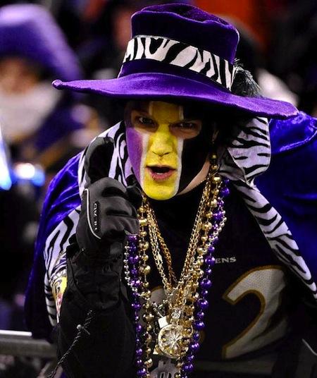 28 baltimore ravens devil pimp fan creepy nfl fans