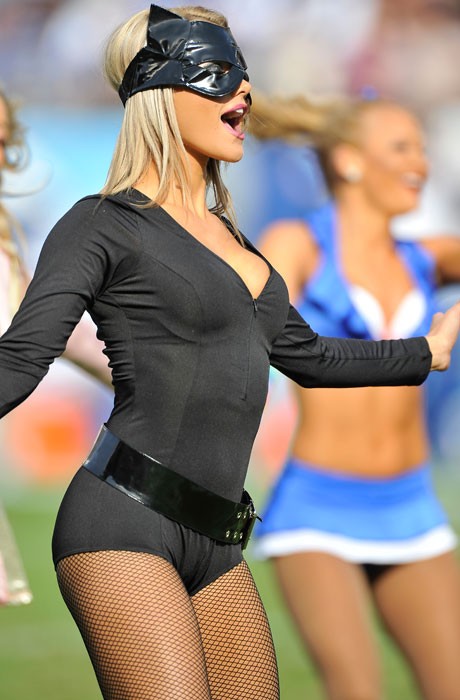 3 Catwoman 2 - NFL Cheerleaders Halloween Costumes