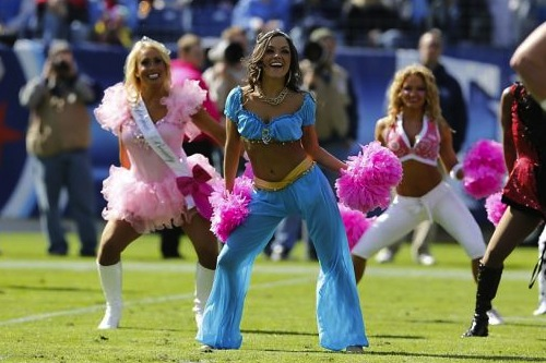 34 Princess Jasmine - NFL Cheerleaders Halloween Costumes (Titans) 2