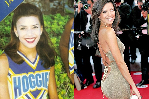 5 eva longoria celebrities cheerleader cheerleading