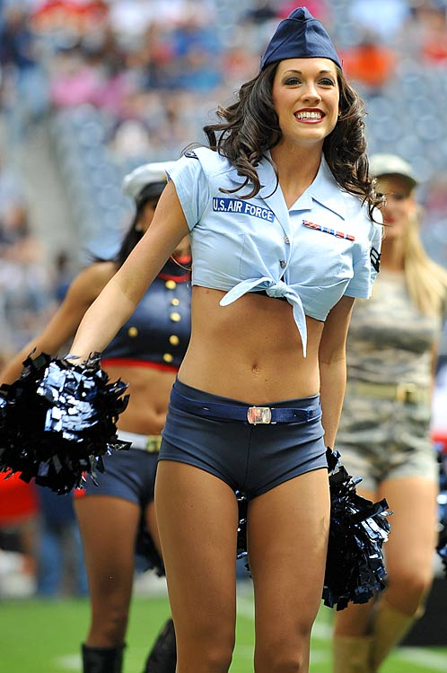 6 Sexy Air Force Girl - NFL Cheerleaders Halloween Costumes