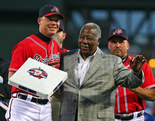 6 chipper jones retirement gift braves hank aaron