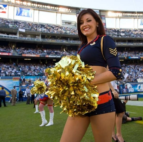 7 Sexy Navy Girl - NFL Cheerleaders Halloween Costumes