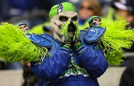 8 seahawks skeleton fan creepy nfl fans
