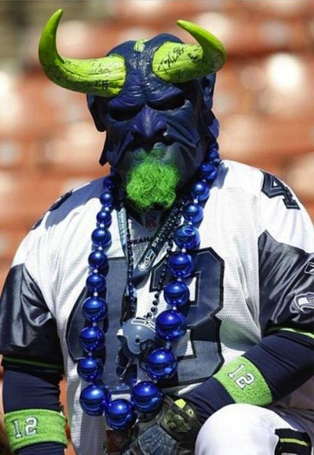 9 seattle seahawks fan devil demon mask creepy nfl fans