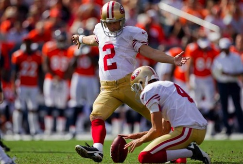David Akers 49ers kicker field goal