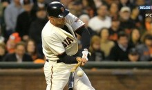 Hunter Pence's Tricky Broken Bat Double Broke Things Open For The Giants Last Night (Video)