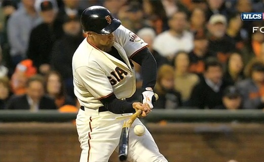 Hunter Pence broken bat NLCS
