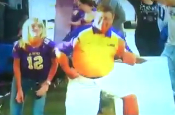 LSU fan dancing