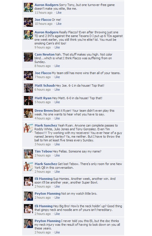 NFL Facebook QB Convo Week 7 - 2