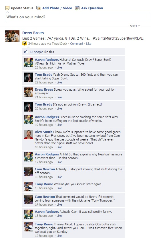 NFL QB Facebook Convo Week 7 - 1