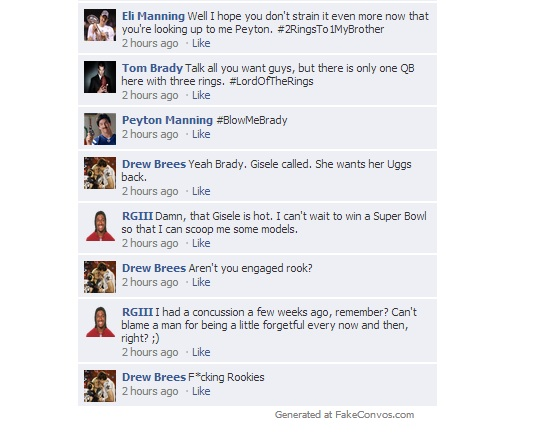 NFL QB Facebook Convo Week 7 - 3