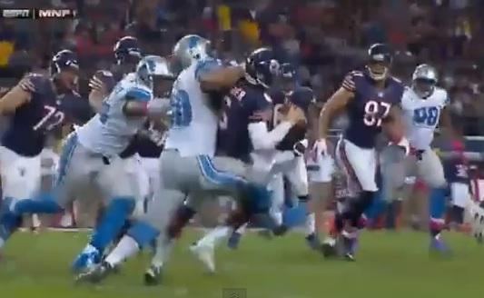 Ndamukong Suh tackle Cutler
