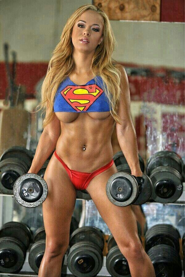 Really hot sex of women in the gym