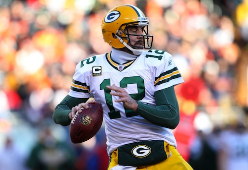 aaron rodgers green bay packers quarterback passer rating