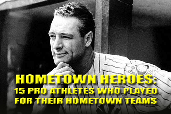 athletes who played for hometown team