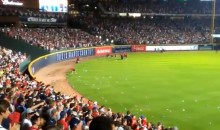 Here's Footage Of The Braves Fans Littering Turning Field With Garbage During The NL Wild Card Game (Video)