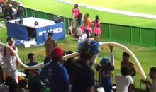 Cricket Fans Construct Massive Beer Snake At The 2012 ICC World Twenty20 (Video)