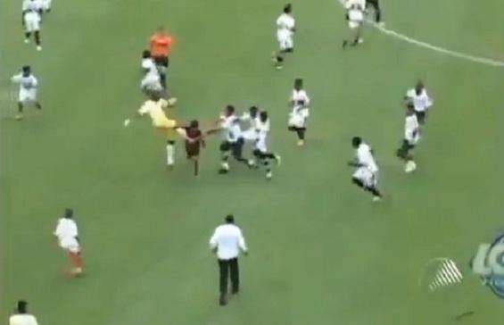brazil u13 soccer brawl
