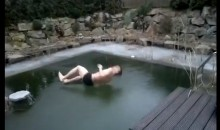 Frozen Pool Results In Cannonball Fail! (Video)
