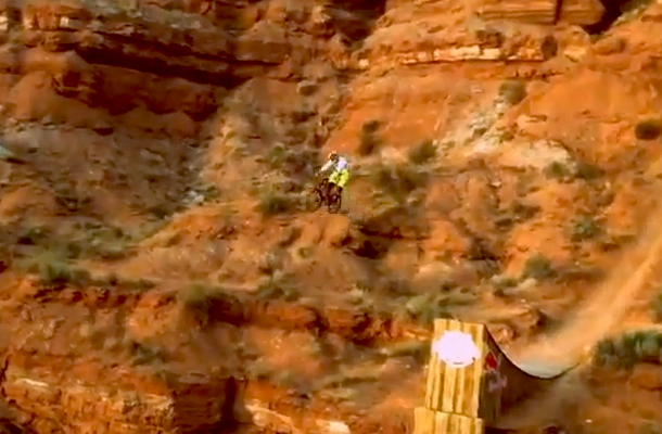 cam zink mountain biking canyon jump daredevil fail