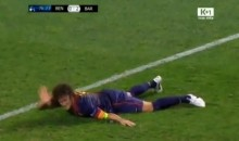 Barcelona's Carlos Puyol Suffers Gruesome Arm Injury During UCL Match (Video)
