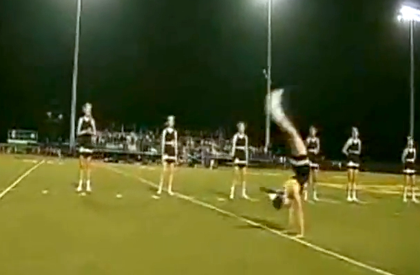 cheerleader miranda ferguson world record consecutive handsprings