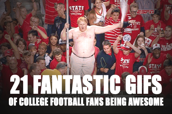 college football fans fan gifs