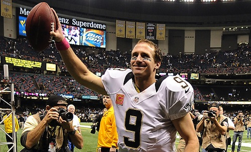 drew brees record-breaking quarterback