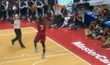Watch Dwyane Wade Miss A Wide Open Dunk (Video)