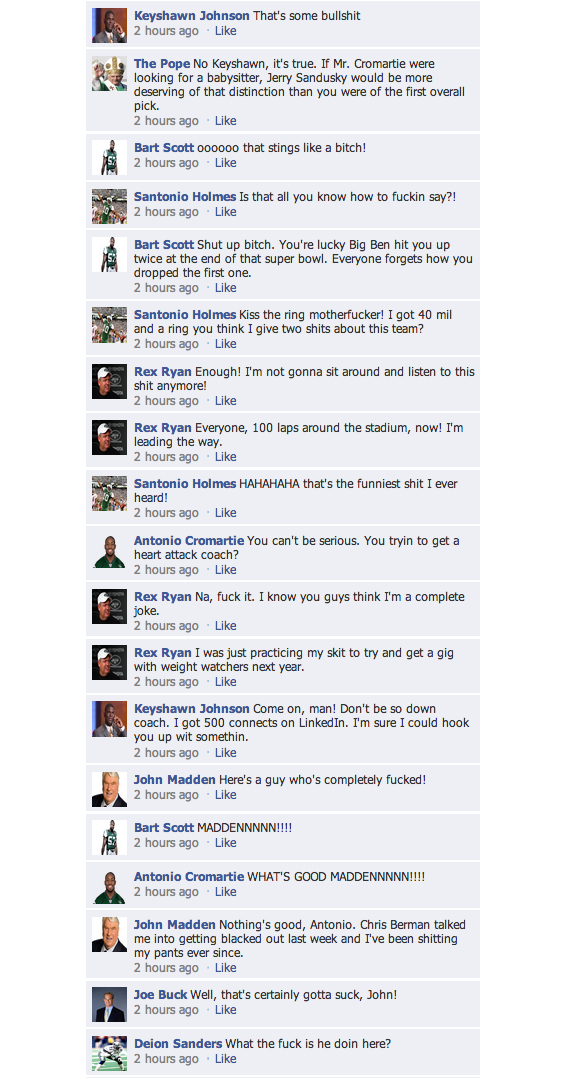 fake facebook conversation nfl 2