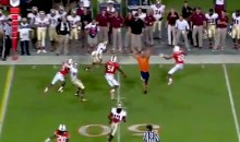 Some Really Smart Guy Ran Onto The Field In The Middle Of A Play During The Seminoles-Hurricanes Game (Video)