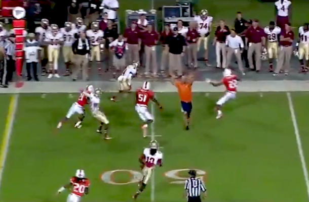 fan field invasion florida state miami football game