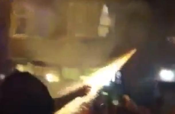 giants fan fireworks fail