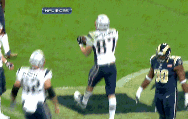 gronk TD celebration royal spike